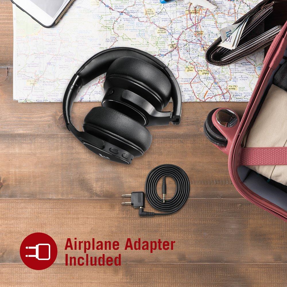 73336eea566a12 TaoTronics Active Noise Cancelling Bluetooth Headphones HiFi Stereo  Wireless Over Ear Deep Bass Headset w/cVc ...