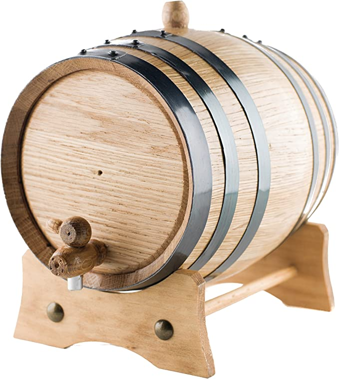 Rum Beer Retro Striped Wine Bucket Container for Your Own Whiskey 3L Oak Aging Whiskey Barrel with Faucet Bourbon Wine Tequila
