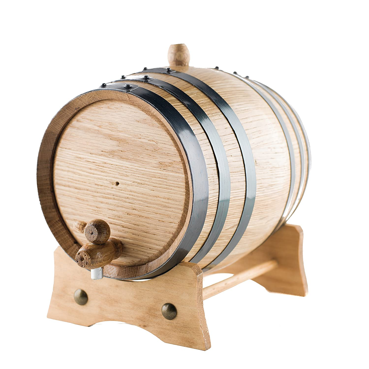 3 Liter American Oak Aging Barrel | Handcrafted using American White Oak | Age your own Whiskey, Beer, Wine, Bourbon, Rum, Tequila & More. Sofia's Findings