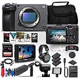 Sony FX3 Full-Frame Cinema Camera (Body Only) (ILME-FX3) + 4K Monitor + Pro Headphones + Pro Mic + 128GB Memory Card + Corel