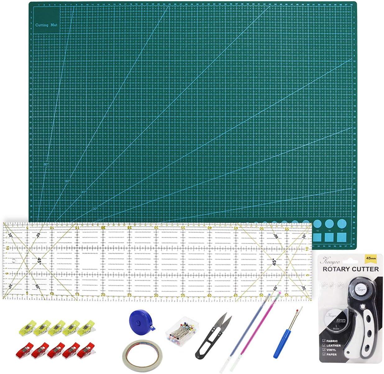 A1-90 x 60 cm Coupe Tapis 60x15 cm règle Cm /& pouce + Cutter circulaire