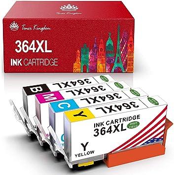 Toner Kingdom Cartuchos de tinta compatibles para HP 364XL para HP PhotoSmart 5510 5515 5524 5525 6510 6520 7510 7520 B8550 HP OfficeJet 4620 HP Deskjet 3070A (1Negro 1Cian 1Amarillo 1Magenta): Amazon.es: Oficina y papelería
