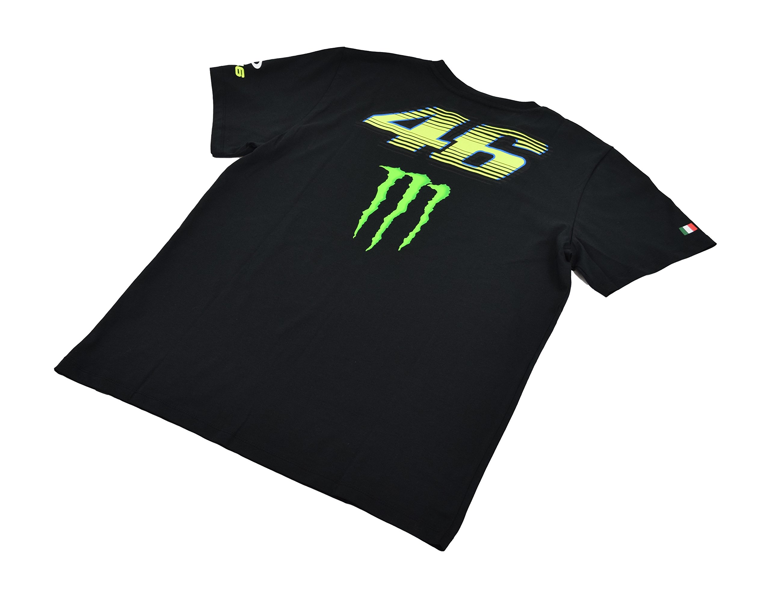Yamaha Valentino Rossi VR46 X MONSTERENERGY short-sleeved T-shirt Black Monster Energy & amp; OAKLEY & amp; 46 Biggurogo size XLARGE (Europe)