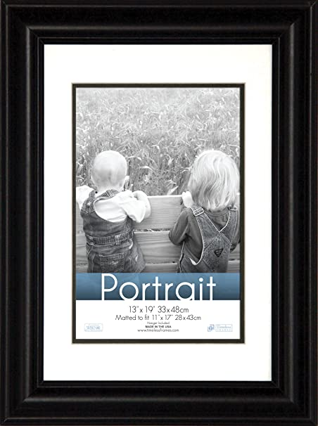 Timeless Expressions Timeless 13x19 11x17 Lauren Portrait Wall Frame Black Amazon Co Uk Kitchen Home
