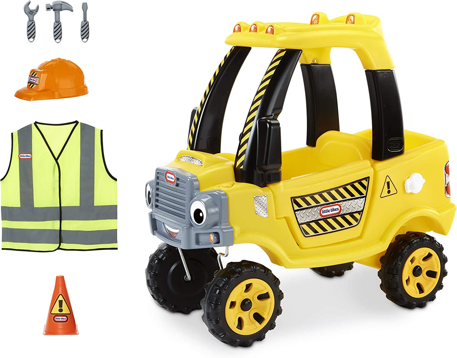Little Tikes Construction Cozy Truck Themed Role Play Ride-On Toy, Multicolor