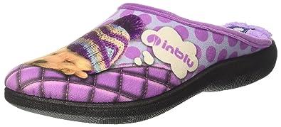 INBLU - Zapatillas de estar por casa para mujer violeta glicine 36 violeta Size: 38 hMeHN73TJN