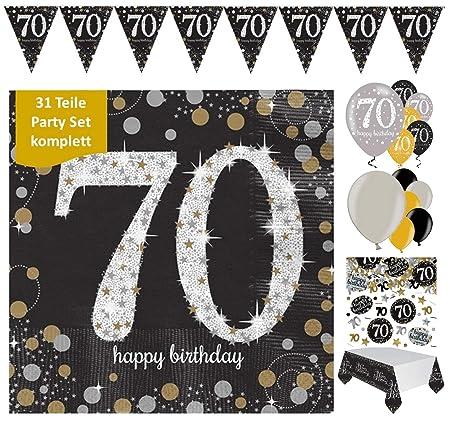 celebran fijo para 70 cumpleaños I Completo 31 piezas ...