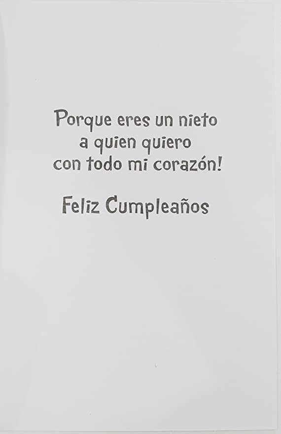 Amazon.com : Feliz Cumpleanos Nieto - Happy Birthday ...