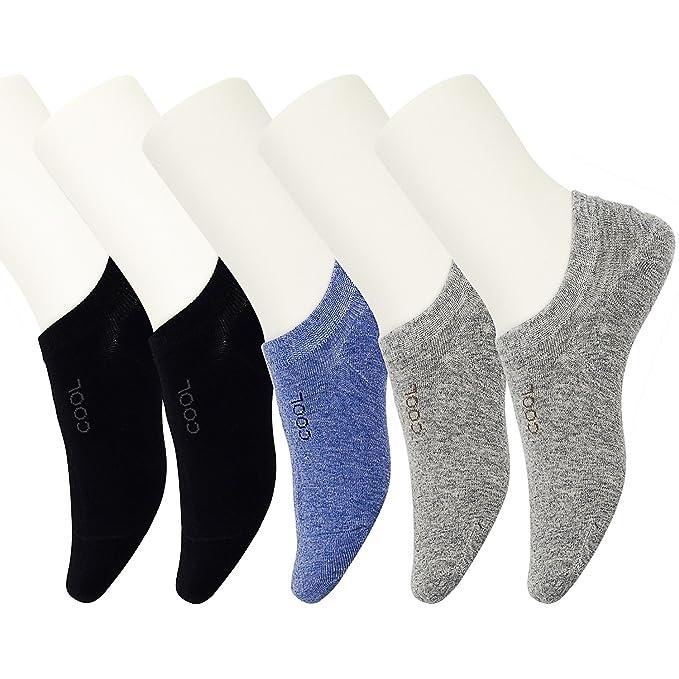 5 pares de calcetines de tobillo, de algodón peinado hombre Sport Trainer calcetines de corte