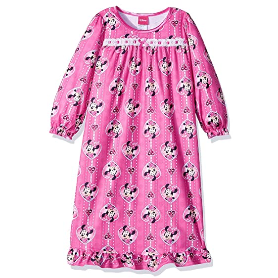 Amazon.com: Disney Minnie Mouse Little Girls\' Toddler Granny Gown ...