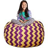 "Posh Stuffable Kids Stuffed Animal Storage Bean Bag Chair Cover - Childrens Toy Organizer, X-Large 48"" - Pattern Chevron…"