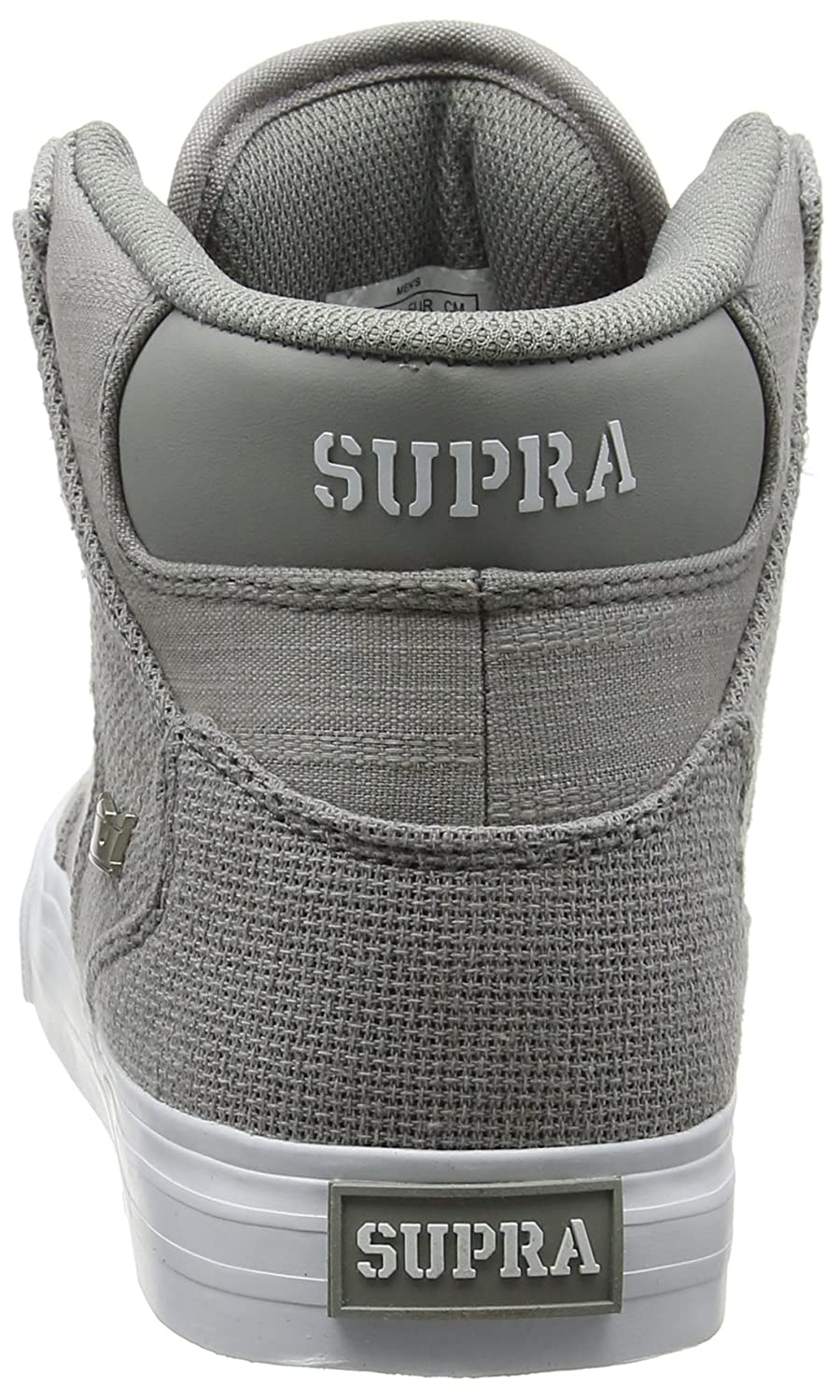 Supra Vaider Skate 10.5 Shoe B01N32ZIIS Medium / 10.5 Skate C/D US Women / 9 D(M) US Men|Grey - White / Grey b3a812