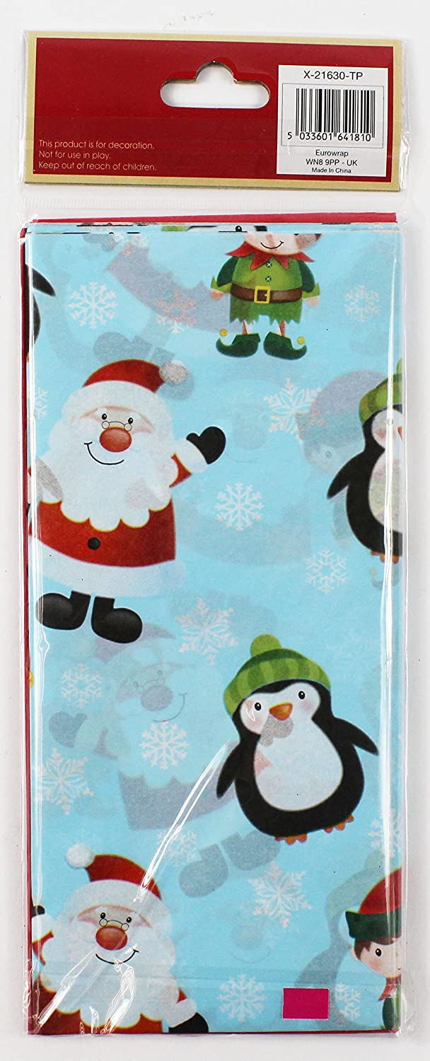 Christmas Tissue Paper Santa Elf 10 Sheets Gift Wrap Wrapping Cute Present Pack Card and Party Store