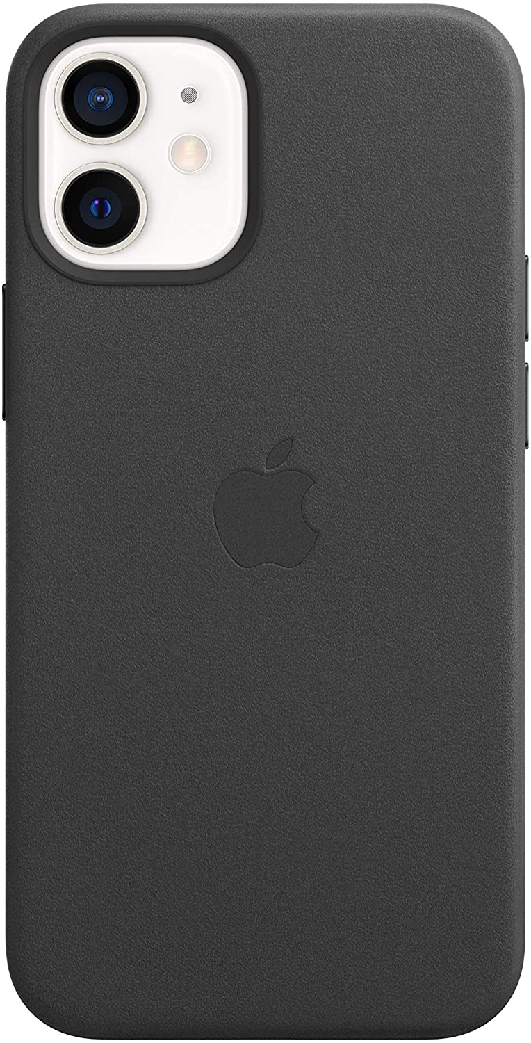 Apple Leather Case with MagSafe (for iPhone 12 Mini) - Black