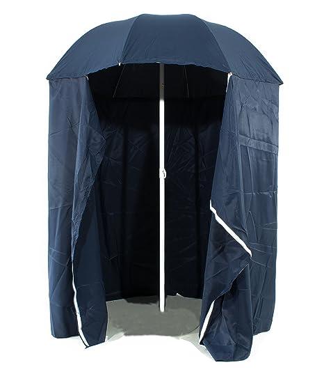 Ombrellone Da Mare Con Tenda.Joy Summer Ombrellone Spiaggia Cabina O 200 Blu Amazon It