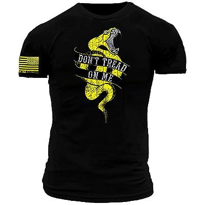 Don't Tread on Me Modern Gadsden Snake Premium Black Athletic Fit T-Shirt | .com