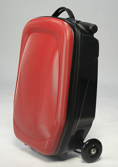 SunSky Equipaje patinete Rolling Carry On Maleta, rojo ...