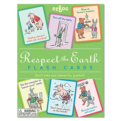 eeBoo Respect The Earth Flash Cards: Toys & Games