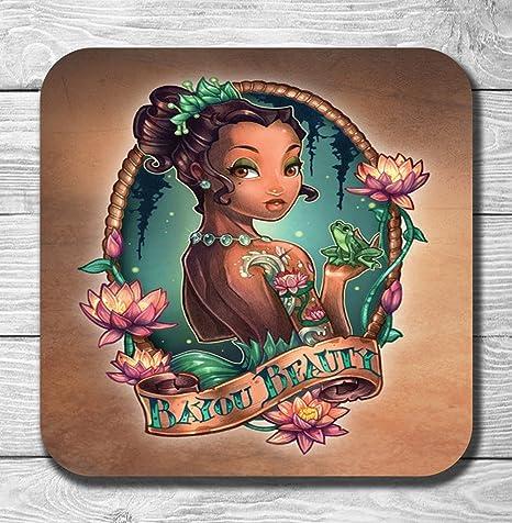 Compra Disney La princesa y la rana Punk tatuaje posavasos en ...