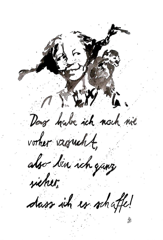Motivation Spruch Von Hand Gemaltes Original Sei Frohlich Din A4