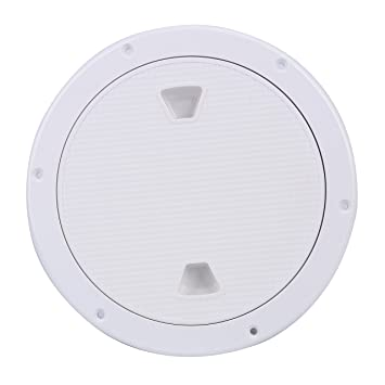 BLACK PLASTIC ACCESS ROUND INSPECTION HATCH 6 INCH BOAT MOTORHOME BRITISH MADE