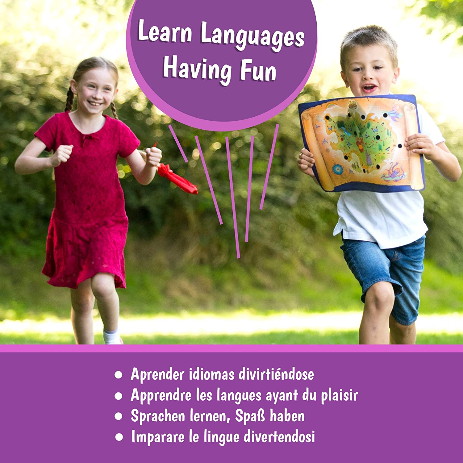 Amazon.com: GoTrovo Language Game for Kids - Fun Indoor Outdoor Treasure Hunt Game and Scavenger Hunt. Play in 5 European Languages.