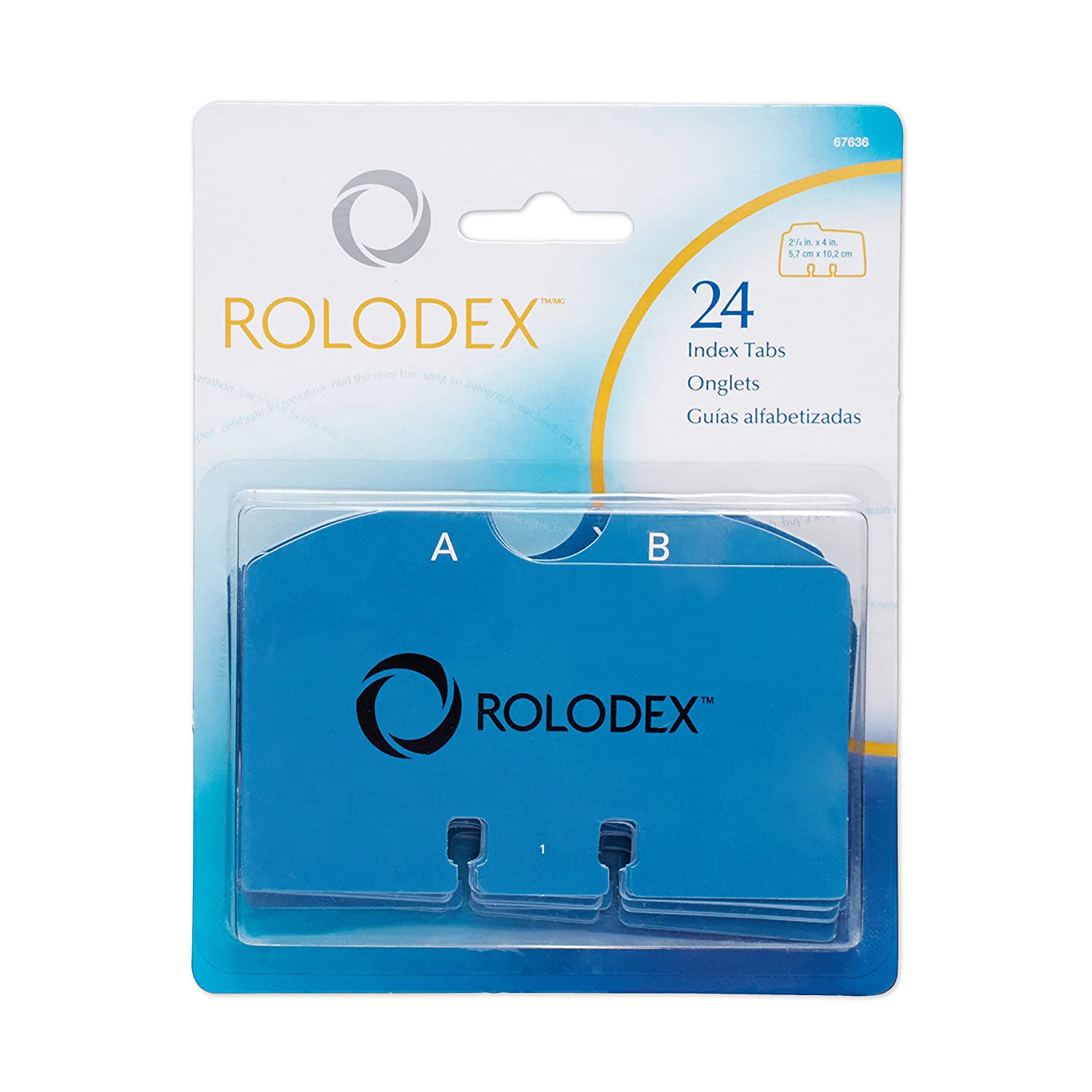 Rolodex A to Z Index Tabs (67636)