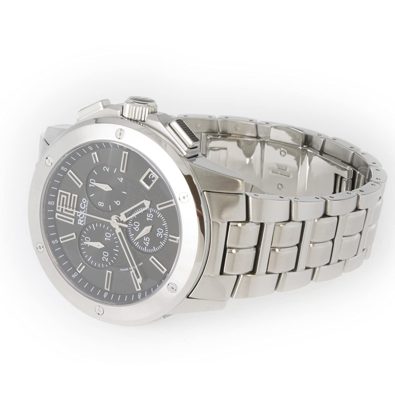 R&Co Herren - Armbanduhr Chronograph Quarz RGB00001-46-19