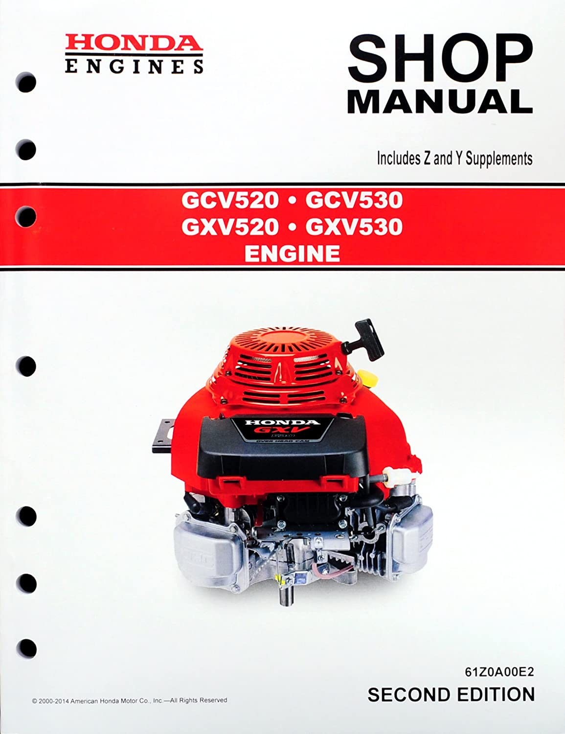 Amazon.com : Honda GCV520 GCV530 GXV520 GXV530 Engine Service Repair Shop  Manual : Garden & Outdoor