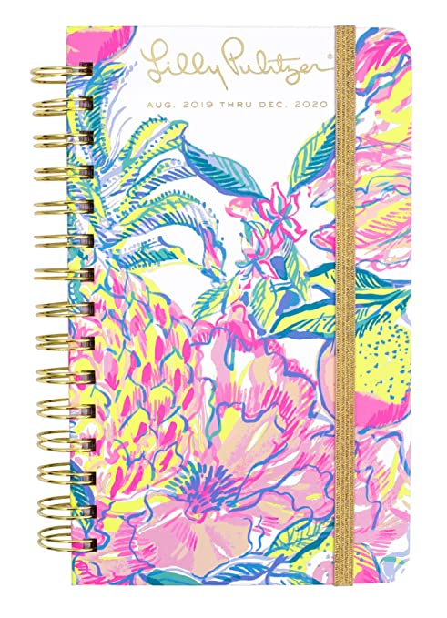 Lilly Pulitzer Medium 17 Month Hardcover Agenda, 8.25
