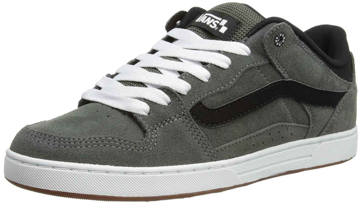 mens vans black & grey churchill trainers