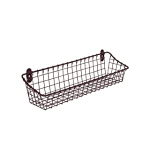 Spectrum Diversified Medium Vintage Cabinet & Wall Mount Basket, Bronze