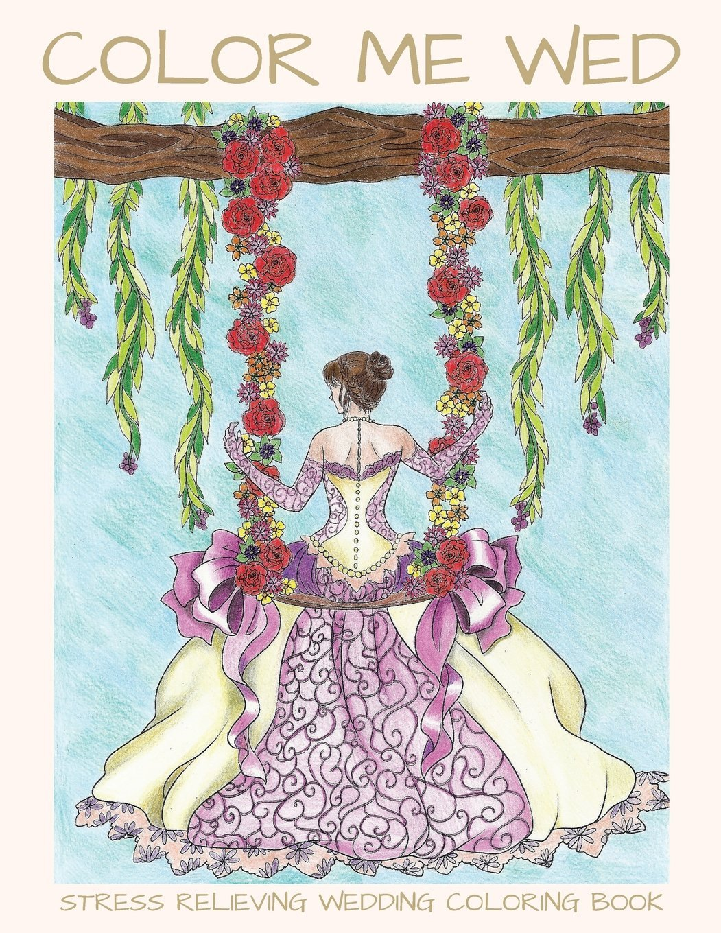 Amazon.com: Color Me Wed: Stress Relieving Wedding Coloring Book ...