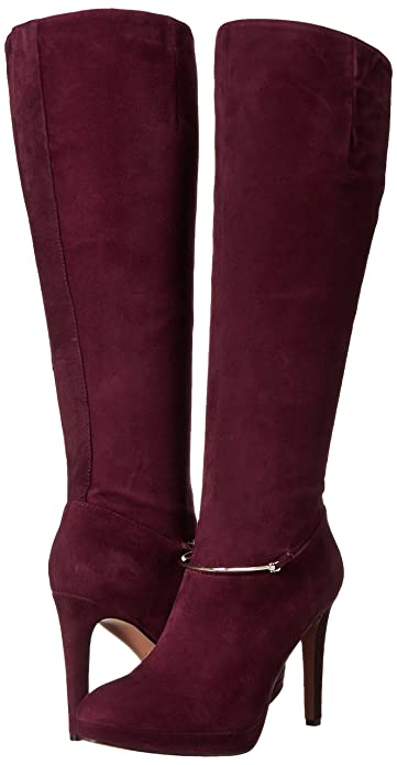 70172a68e7ce Amazon.com | Nine West Women's Pearson-Wide Suede Knee-High Boot, Dark Red,  5.5 M US | Boots