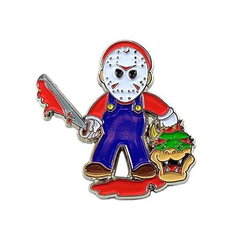 Various Dab Stoner Graffiti Novelty Enamel Pin Hip Hop Weed Culture Hat  Trippy Pins (Evil Mario)