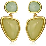 "T Tahari ""Pastel Edge"" Two Stone Drop Earrings"
