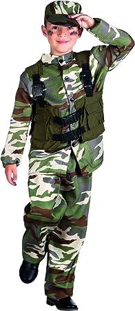 Traje de Soldado y el sombrero Niños vestido de lujo del traje militar ...