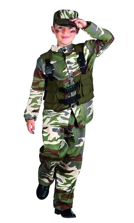 Traje de Soldado y el sombrero Niños vestido de lujo del traje ...