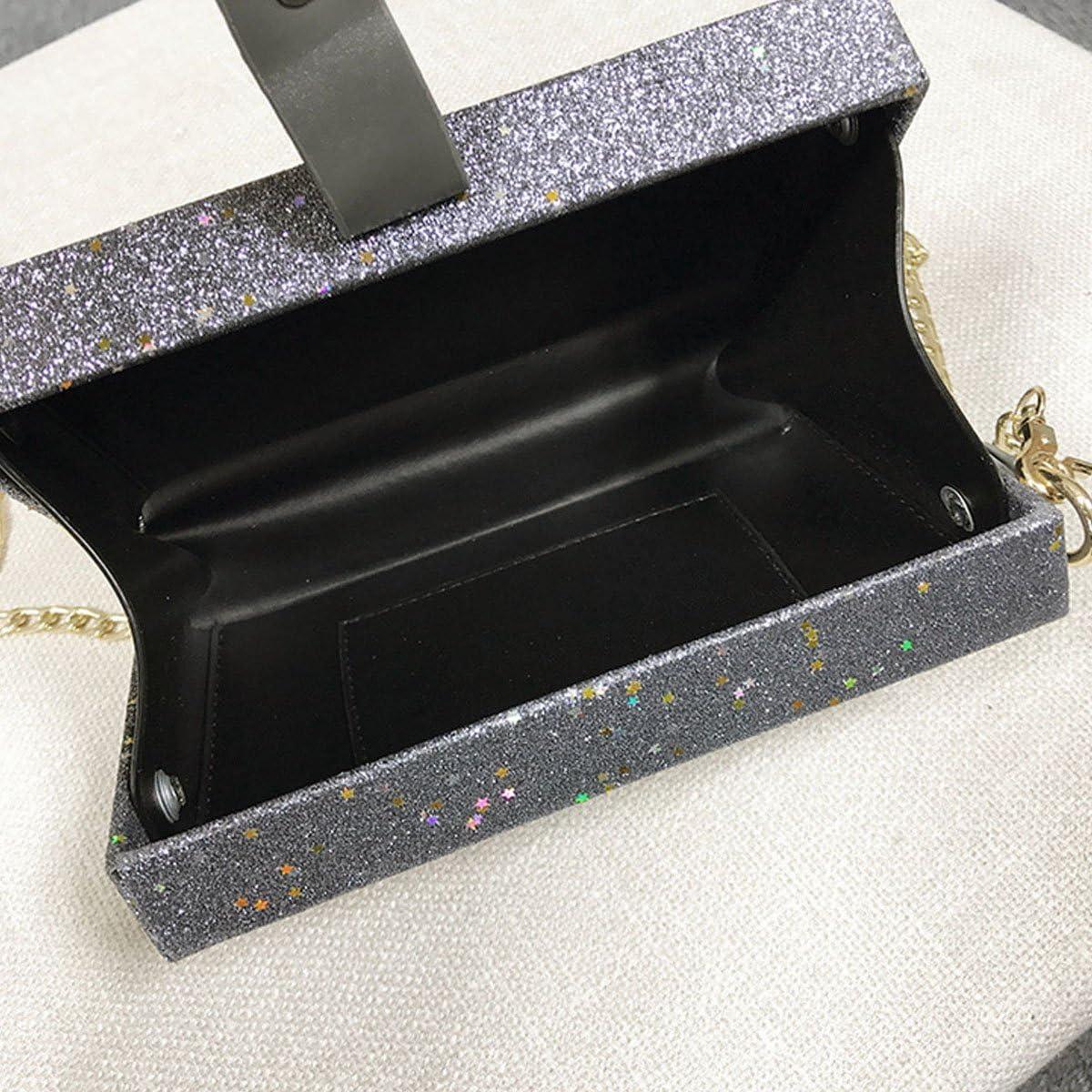 Monique Women Mini Cross-body Bag Satchel Chain Shoulder Bag Purse Tote Box