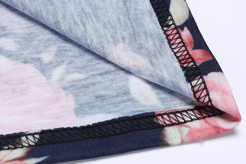 524d61aedbd Umeko Plus Size Womens Floral T Shirt Dress Ragaln Striped Long Sleeve A  Line Short Dresses   Dresses   Clothing