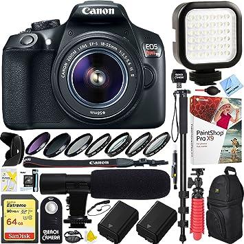 Cámara réflex Digital Canon T6 EOS Rebel con EF-S, 18: Amazon.es ...
