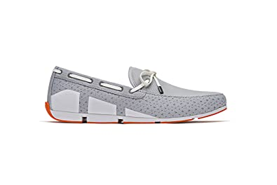 366b8df046a SWIMS Mens Breeze Lace Loafer Grey White Orange Size 8