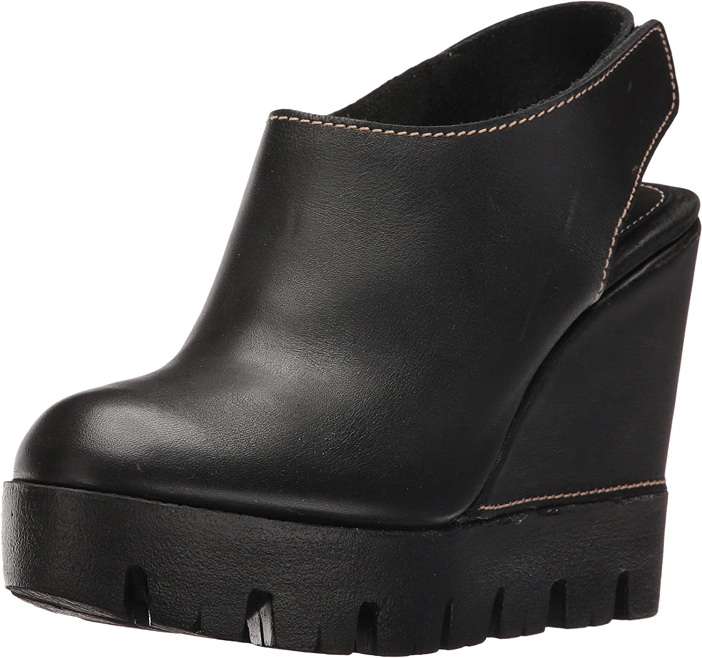 Sbicca Women's Catalano Leather Wedge B01JI9OZIG 8 B(M) US|Black