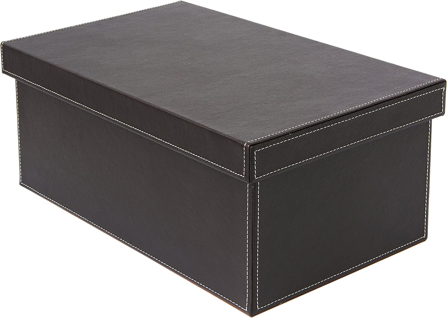 Osco Faux Leather DVD Storage Box - Brown,BPUDVD