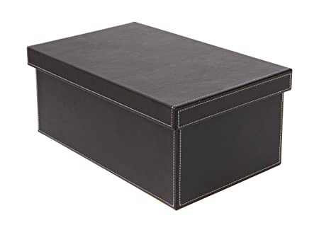 Osco Faux Leather DVD Storage Box   Brown