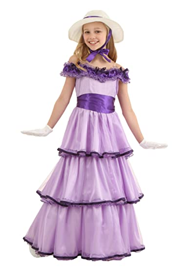 Victorian Kids Costumes & Shoes- Girls, Boys, Baby, Toddler Child Deluxe Southern Belle Costume $39.99 AT vintagedancer.com