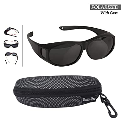 Gafas de sol Superpuestas - Polarizado Sobre Gafas de sol Para Colocar Sobre Las Gafas Normales y de Lectura - Anti reflejante - Hombres & Mujeres - ...