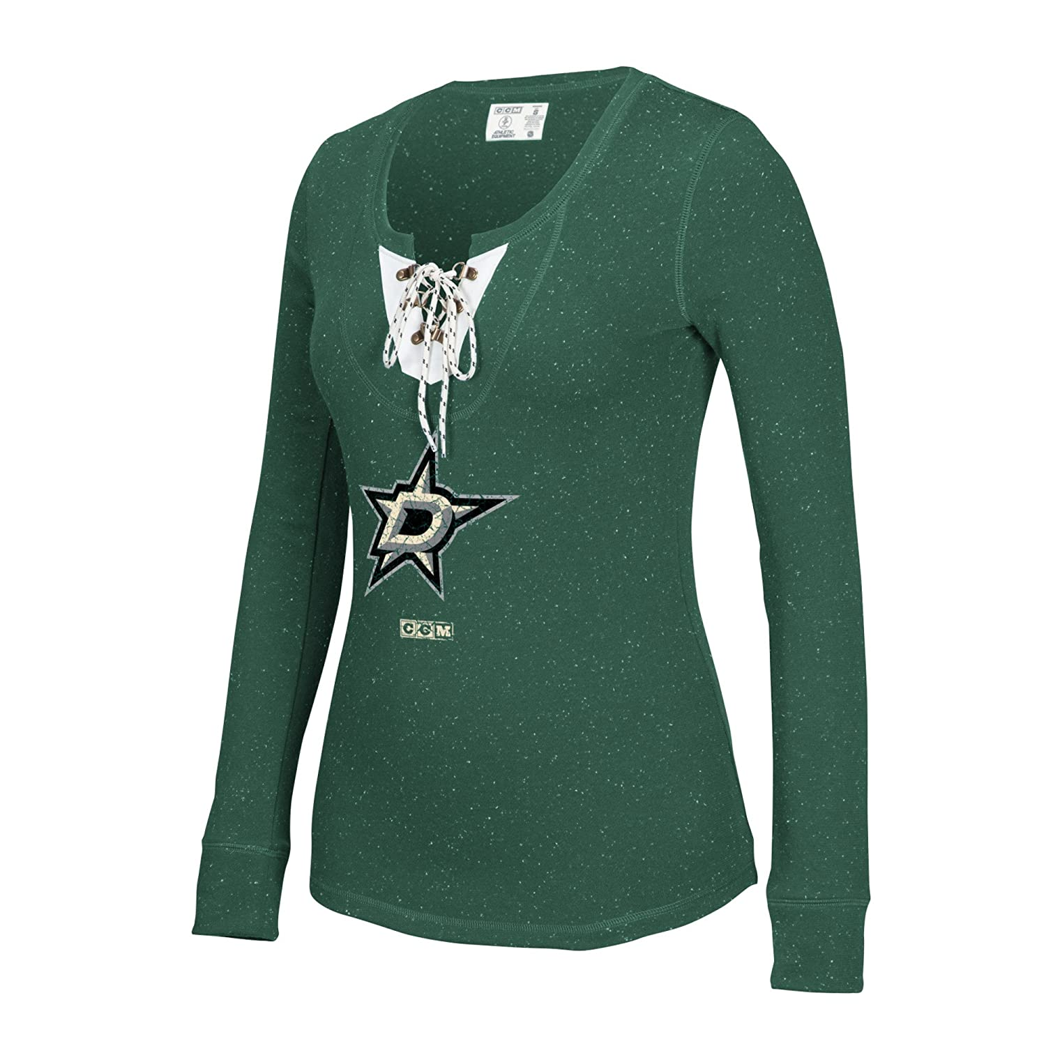 Amazon.com   NHL Women s Lace Up Henley Shirt   Sports   Outdoors 38d4d8956