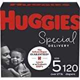 Hypoallergenic Baby Diapers Size 5, 120 Ct, Huggies Special Delivery
