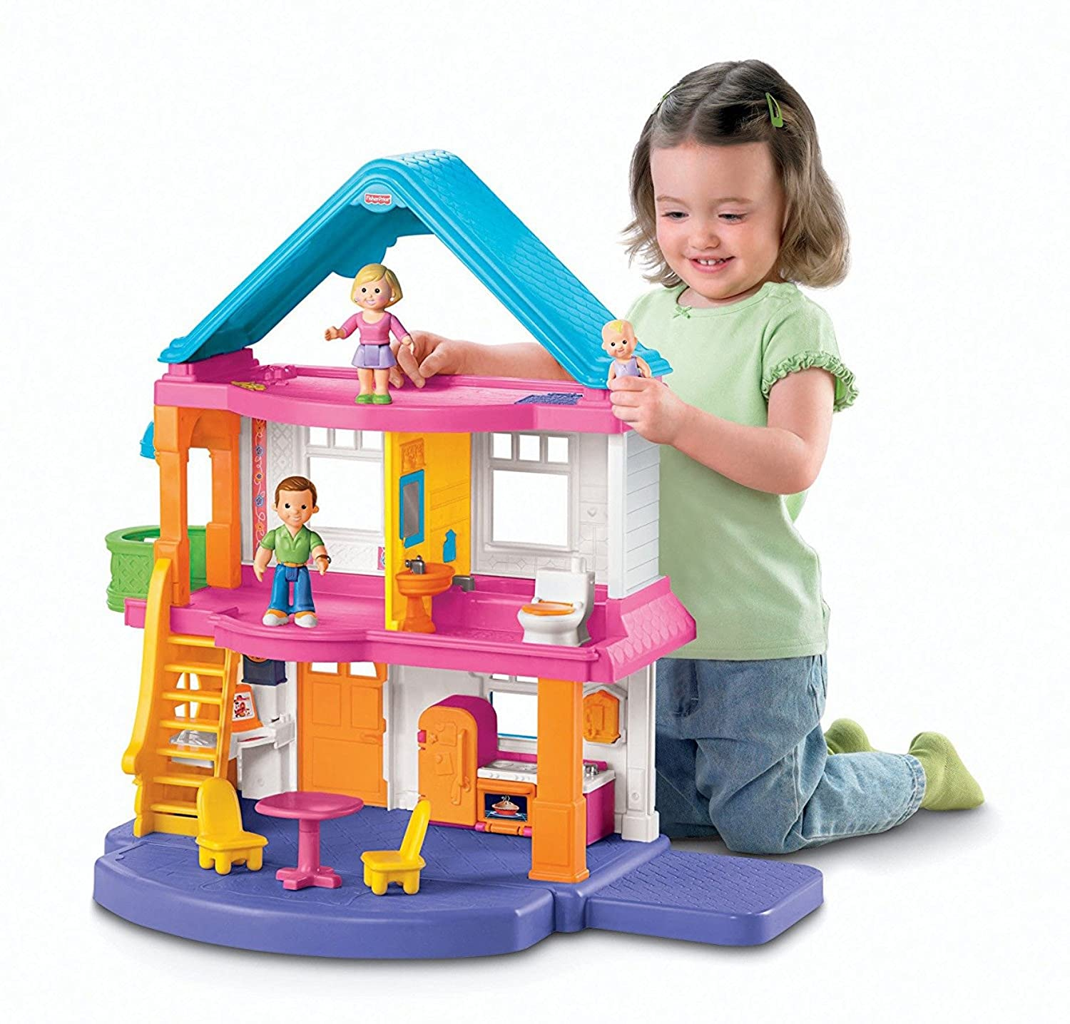 Amazon Fisher Price Loving Family My First Dollhouse Toys